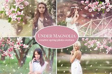 """Under Magnolia"" photo overlays set"