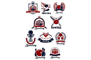 Bowling club emblems and icons