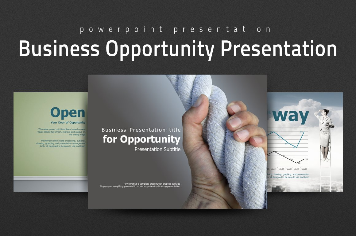 business opportunity presentation presentation templates