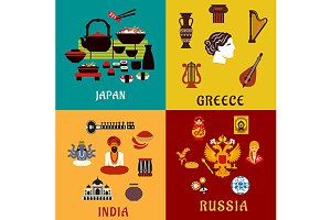 Japan, Russia, India and Greece