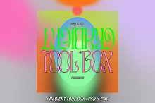 Grainy Gradient DIY Tool Box by  in Graphics