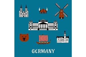 German travel icons