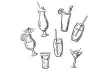Alchohol drinks cocktails beverages