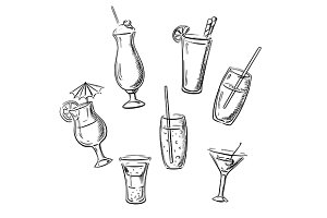 Alchohol drinks cocktails beverages