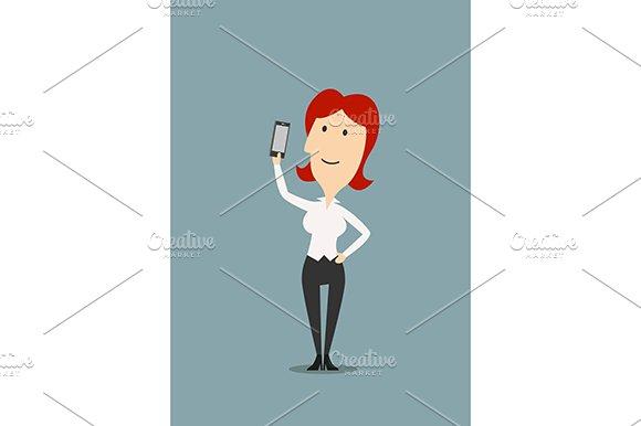 Businesswoman taking selfie shot