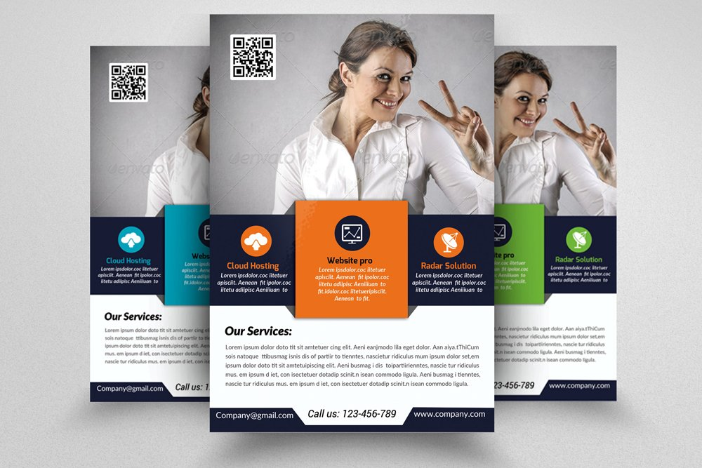 Software developer flyer template flyer templates for Software brochure template