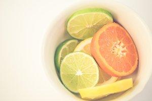 Citrus on White