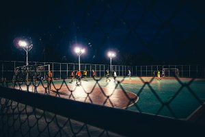Street Football at Night