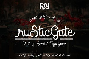 Rustic Gate Vintage Family