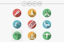 Gynecology round vector icons. Set 2