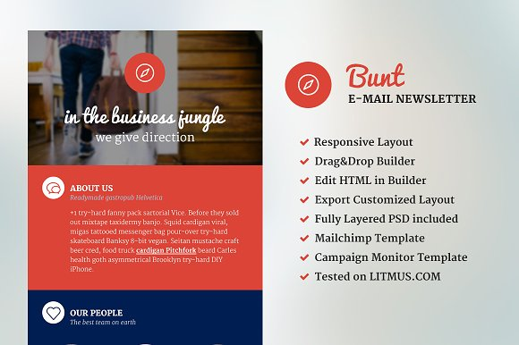 Bunt corporate email template email templates creative market bunt corporate email template email wajeb Gallery