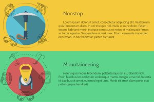 Mountaineering vector flat style