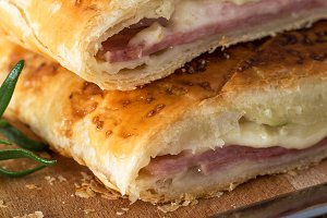 Delicious bread with ham