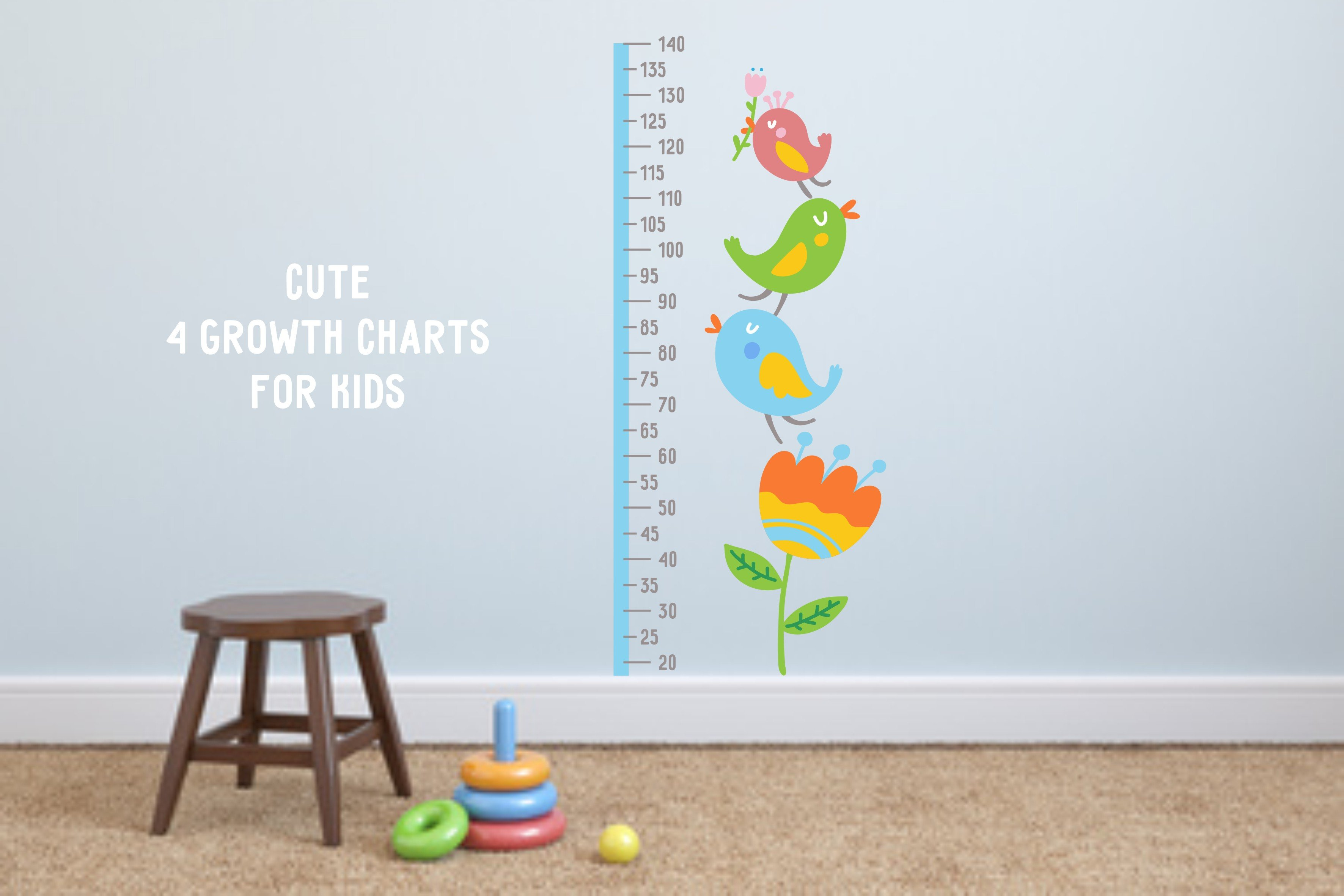 Cute growth charts for kids illustrations creative market nvjuhfo Gallery