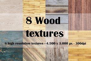 8 Wood textures