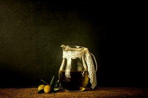Extra virgin olive oil vintage style