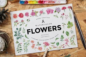 Watercolor Flowers Pack Vol 1