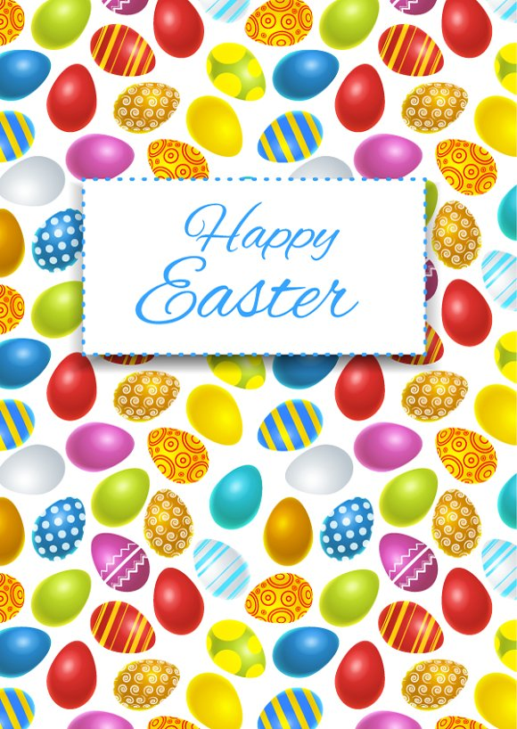 Happy easter card cover Illustrations on Creative Market – Happy Easter Card