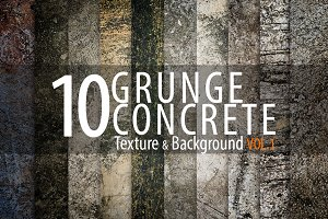 10 Grunge Concrete Background Vol.1