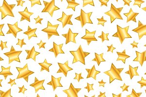 golden stars on white pattern