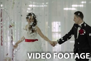 Wedding dance in restaurant.