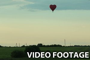 Hot air balloons aerostat landscape