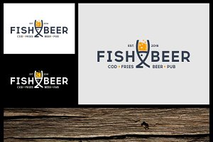 Fish and Beer Pub Logo