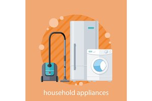 Household Appliances Flat Design