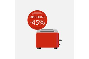 Sale of Household Appliances Toaster