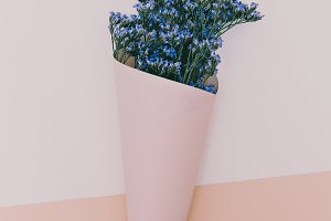 Blue Flowers Minimal