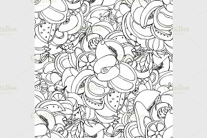 Vector Seamless Pattern of fruits