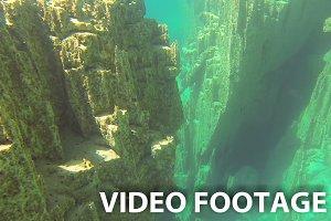 Underwater rocks
