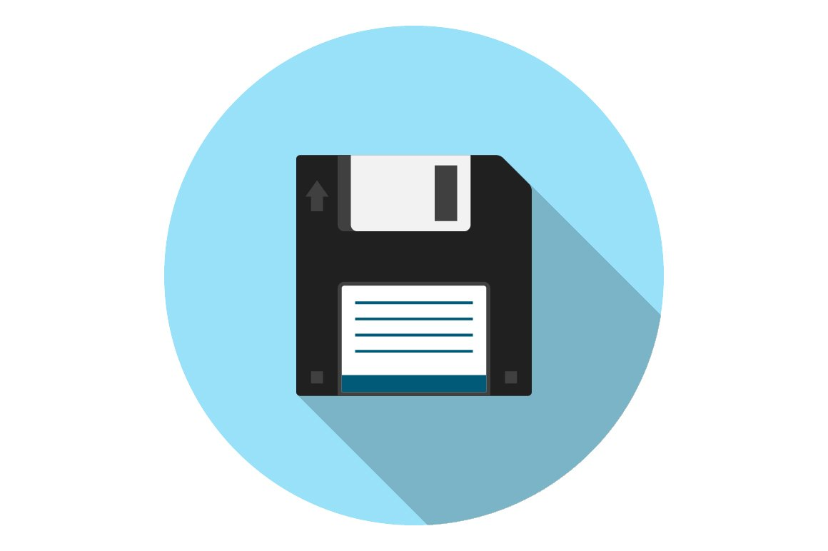Floppy disk flat icon ~ Icons ~ Creative Market