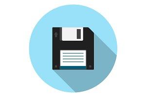 Floppy disk flat icon