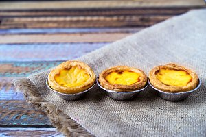 Egg tarts custard sweet dessert