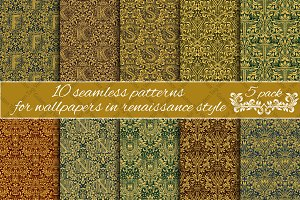 Renaissance seamless patterns Pack 5