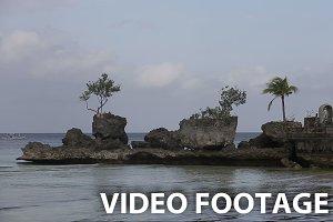 Willy's rock on beach at Boracay.