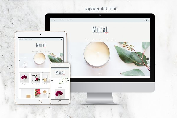 WordPress Photography Themes: CandiesnPixels - Mural GenesisPhotography Theme