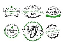 St. Patrick's Day Lettering Logo Set