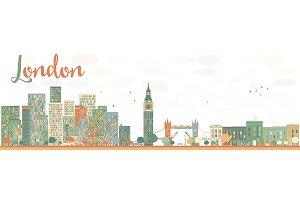 Abstract London city skyline