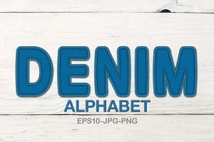 Denim alphabet