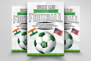 Big Match Football Flyer Template