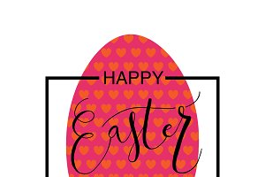 Happy Easter Calligraphy Card