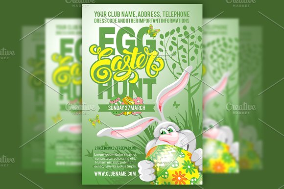 Easter Egg Hunt Flyer Template Flyer Templates on Creative Market – Easter Brochure Template