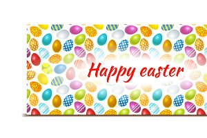 Happy Easter bright banner