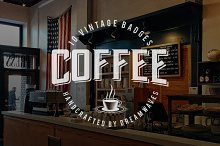 10 Vintage Coffee Logo Badges