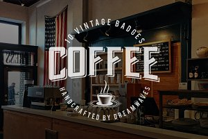 10 Vintage Coffee Logo Badges