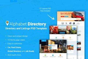 Alphabet Directory PSD Template