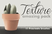 11 Texture brushes for Procreate