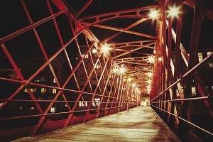 Girona metal bridge